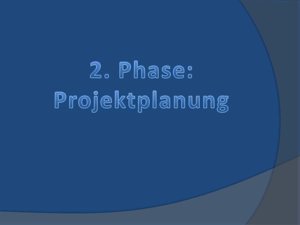 2. Phase: Projektplanung