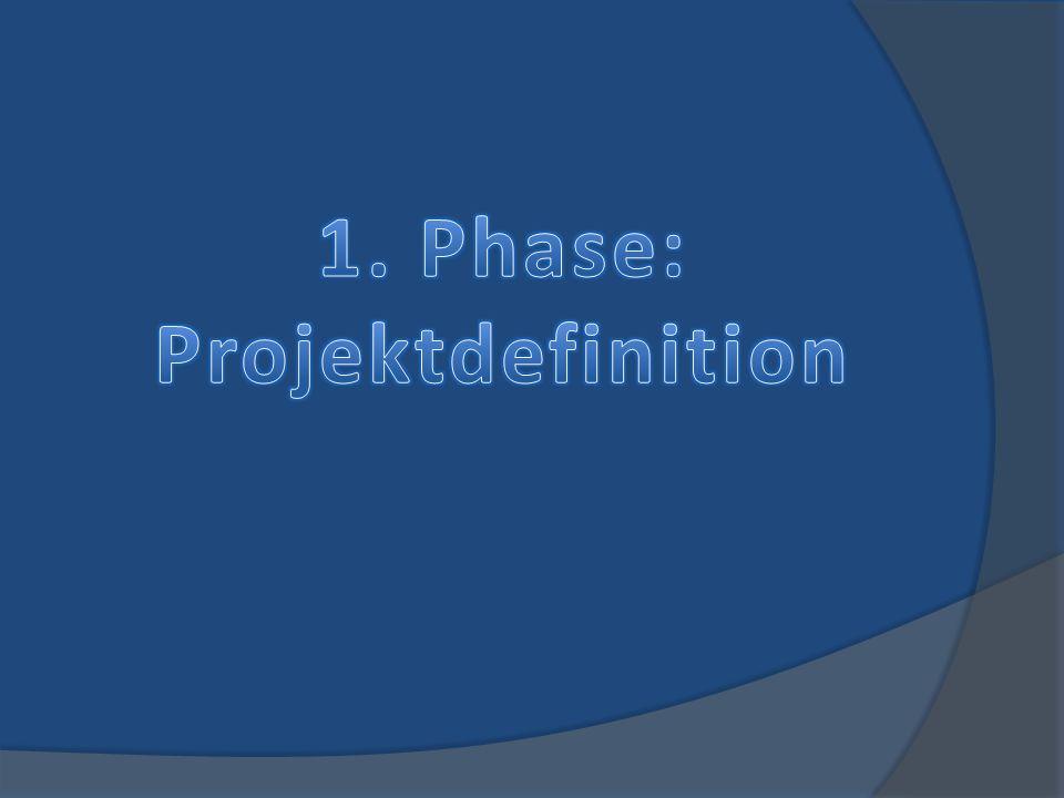 1. Phase: Projektdefinition