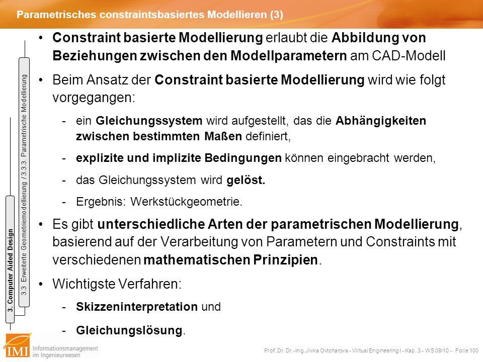 Parametrisches constraintsbasiertes Modellieren (3)