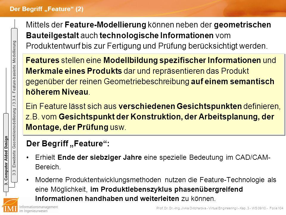 """Der Begriff """"Feature (2)"""