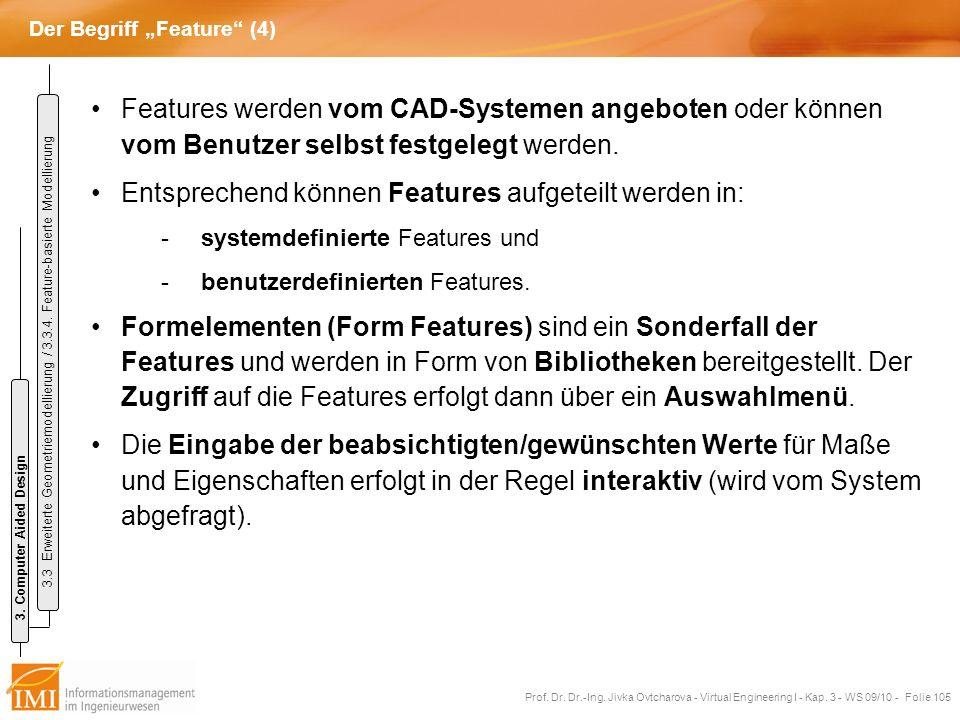 """Der Begriff """"Feature (4)"""