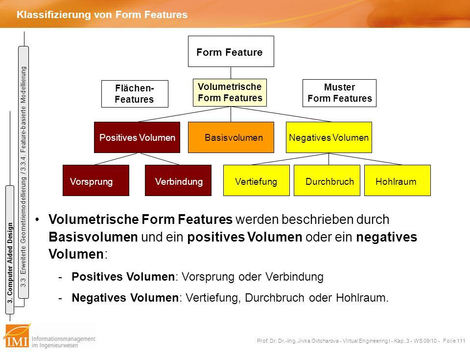 Klassifizierung von Form Features