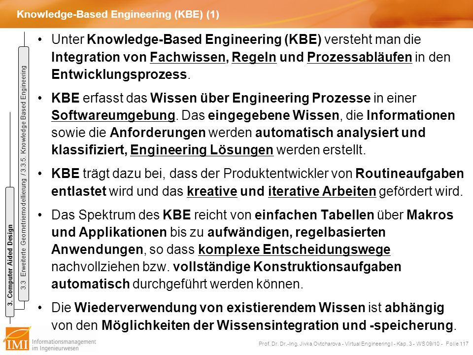 Knowledge-Based Engineering (KBE) (1)