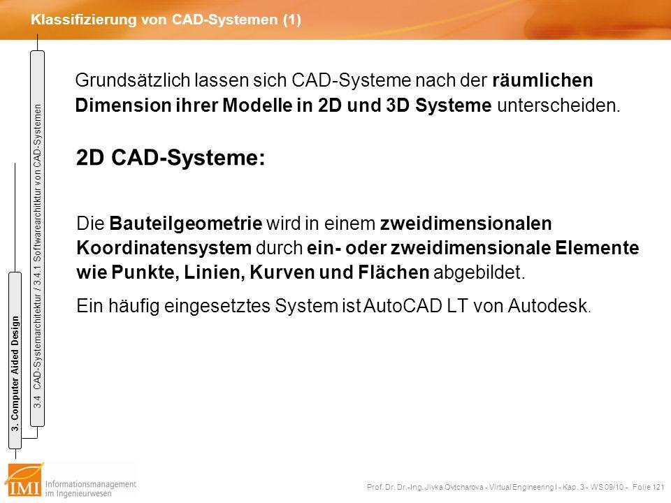 Klassifizierung von CAD-Systemen (1)