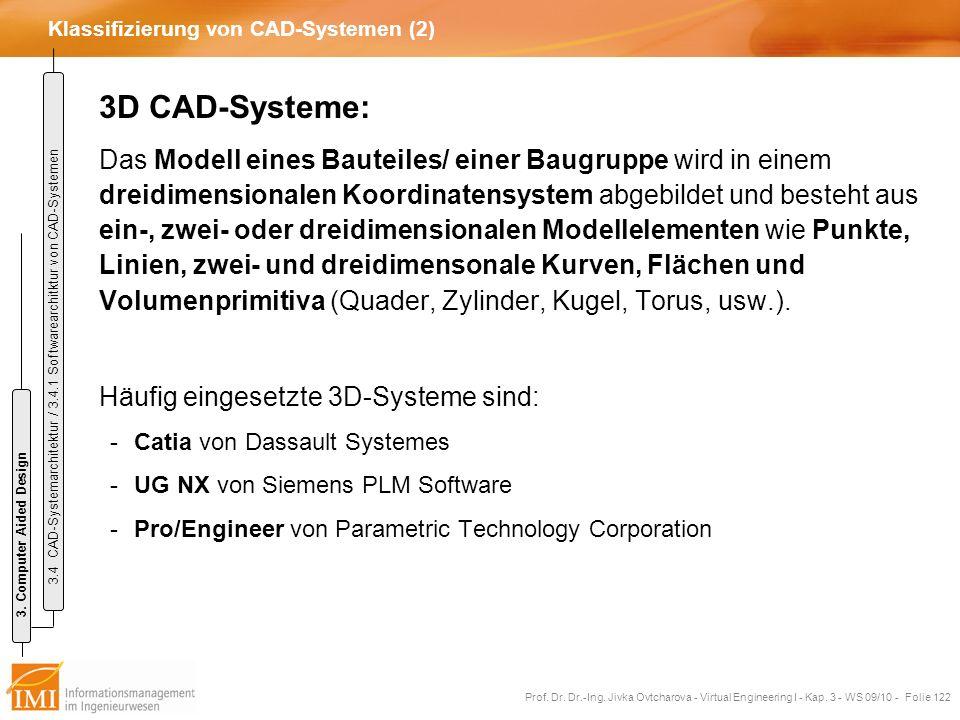 Klassifizierung von CAD-Systemen (2)