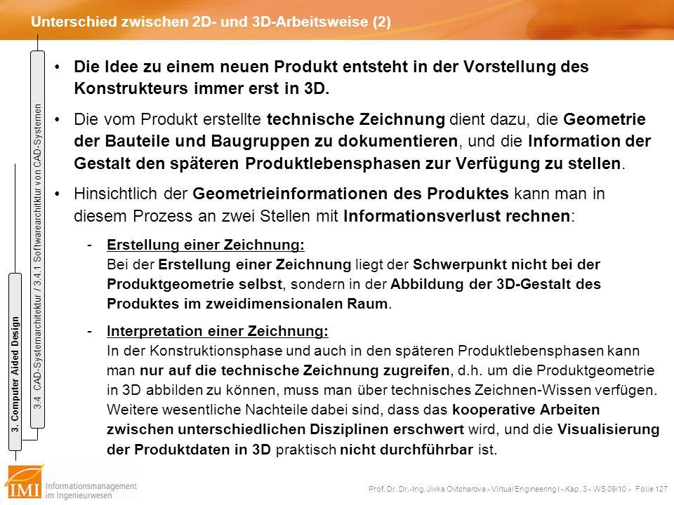 Unterschied zwischen 2D- und 3D-Arbeitsweise (2)