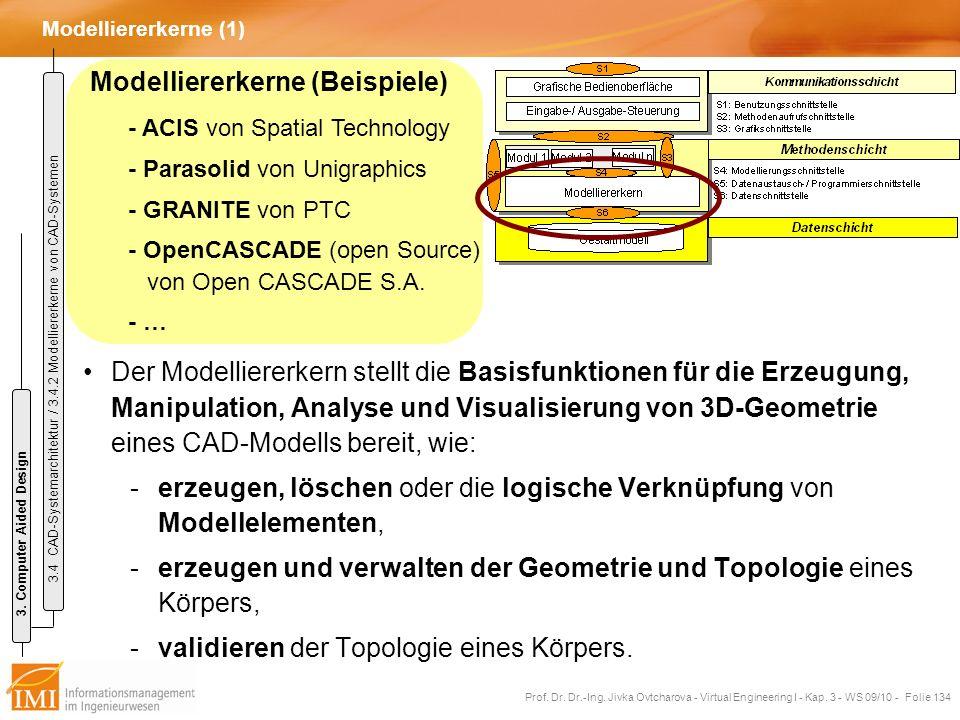 Modelliererkerne (Beispiele) - ACIS von Spatial Technology