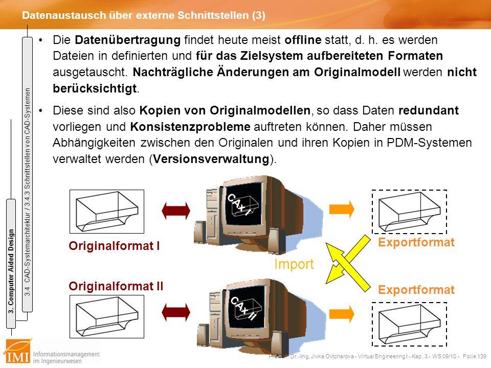 Datenaustausch über externe Schnittstellen (3)