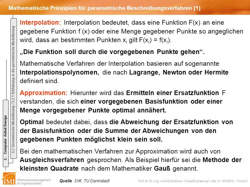 Mathematische Prinzipien für parametrische Beschreibungsverfahren (1)