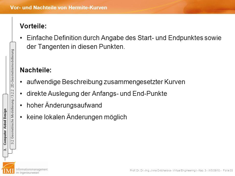 Vor- und Nachteile von Hermite-Kurven