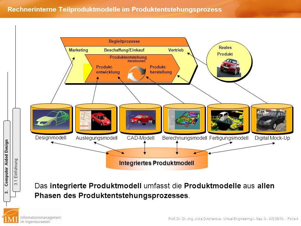 Rechnerinterne Teilproduktmodelle im Produktentstehungsprozess