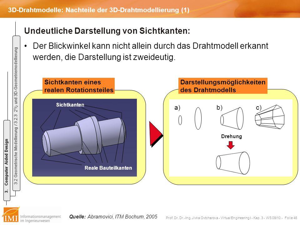 3D-Drahtmodelle: Nachteile der 3D-Drahtmodellierung (1)