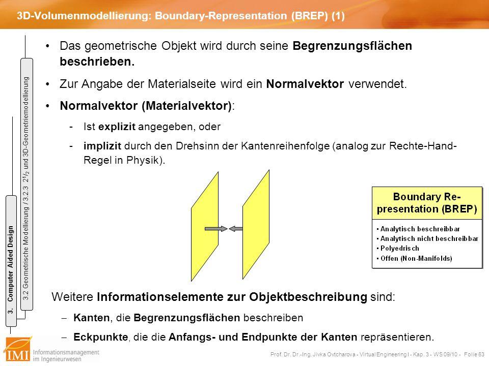 3D-Volumenmodellierung: Boundary-Representation (BREP) (1)