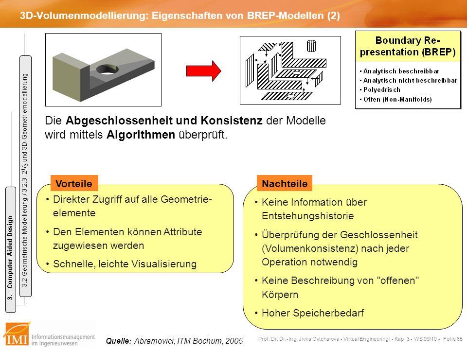 3D-Volumenmodellierung: Eigenschaften von BREP-Modellen (2)