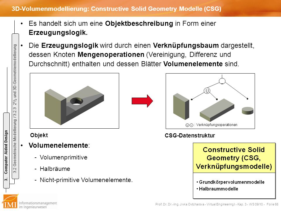 3D-Volumenmodellierung: Constructive Solid Geometry Modelle (CSG)