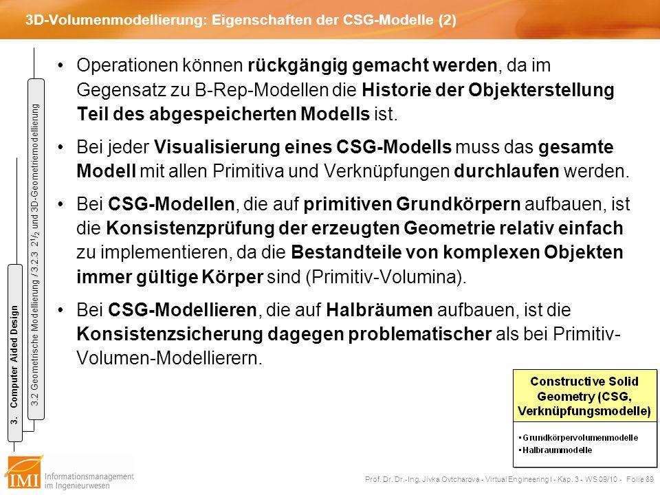 3D-Volumenmodellierung: Eigenschaften der CSG-Modelle (2)