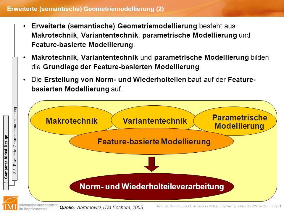 Erweiterte (semantische) Geometriemodellierung (2)