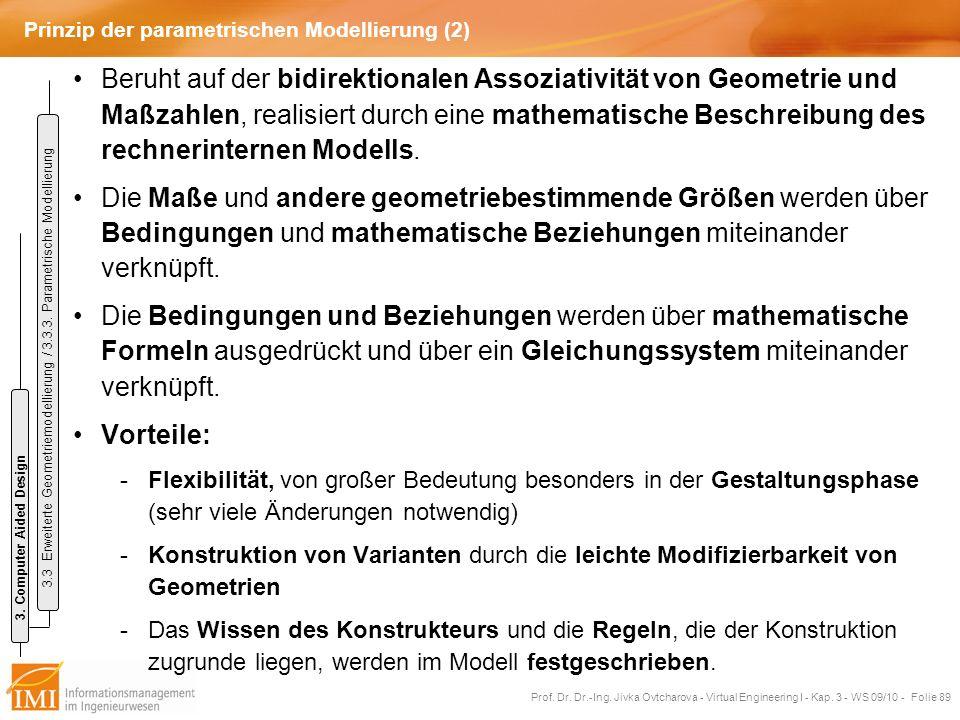Prinzip der parametrischen Modellierung (2)