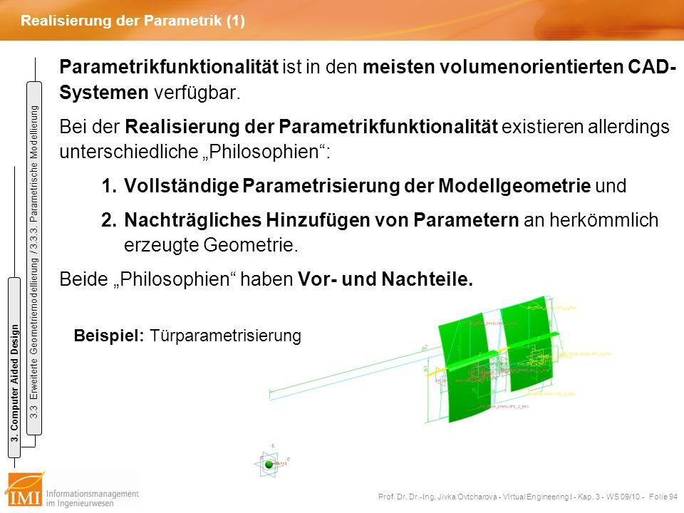 Realisierung der Parametrik (1)