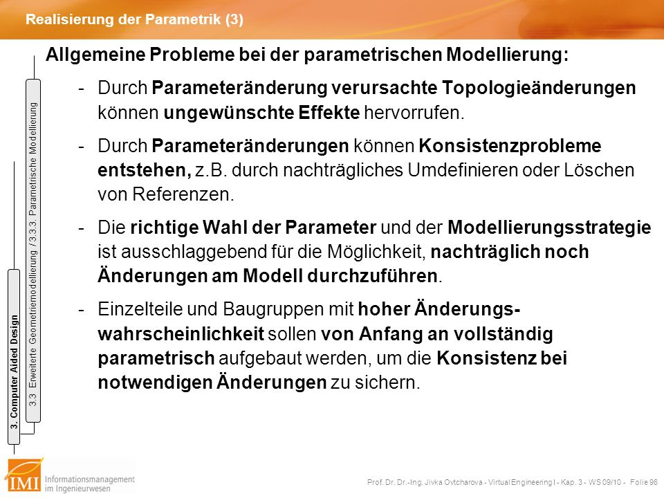 Realisierung der Parametrik (3)