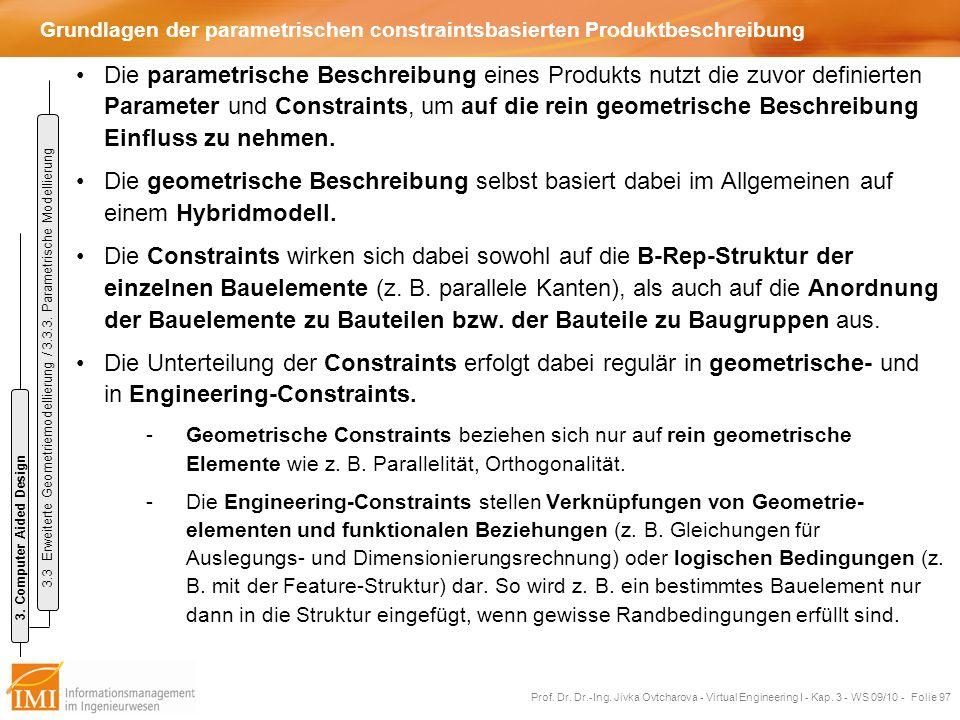 Grundlagen der parametrischen constraintsbasierten Produktbeschreibung
