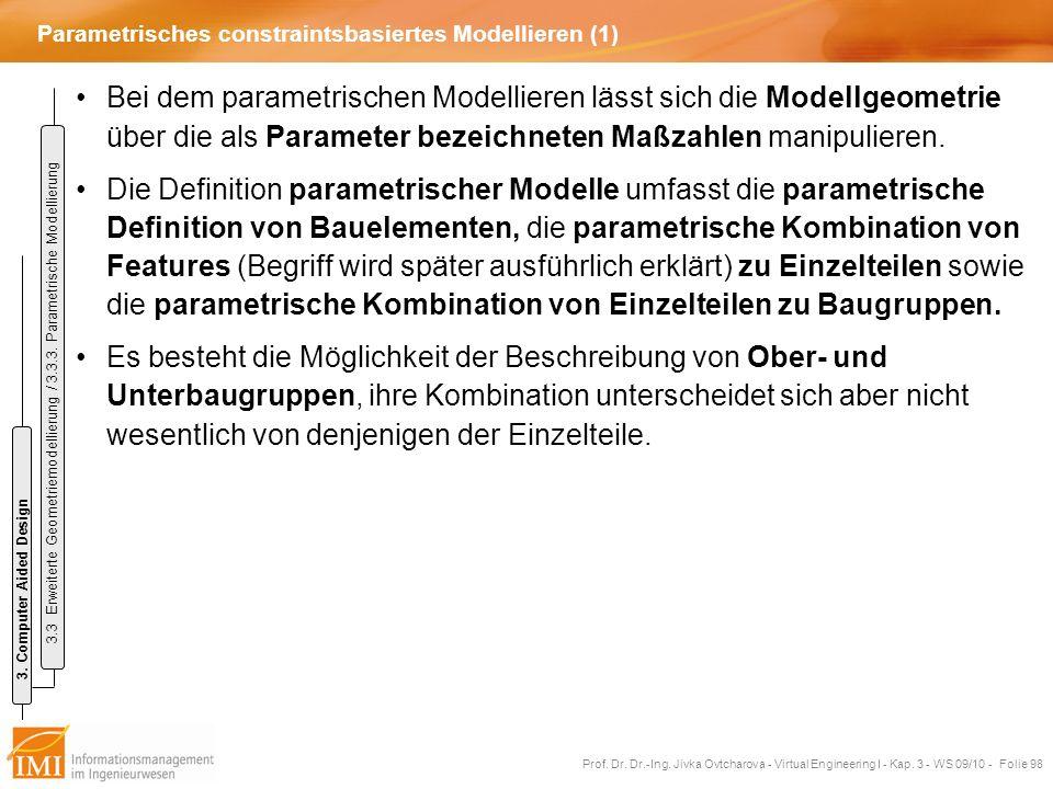 Parametrisches constraintsbasiertes Modellieren (1)