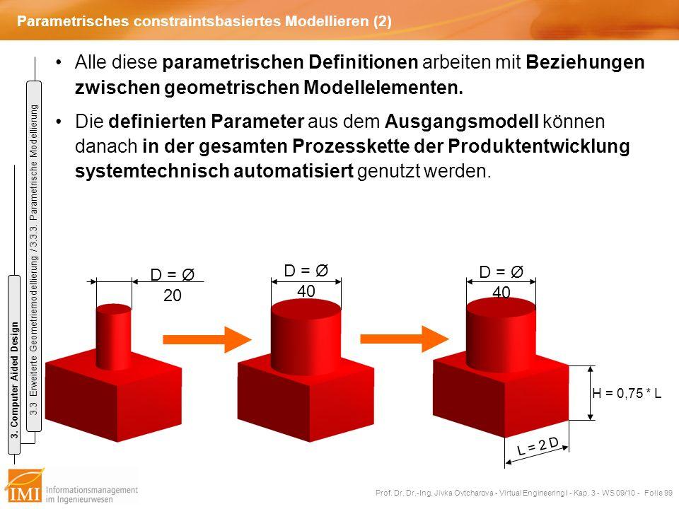 Parametrisches constraintsbasiertes Modellieren (2)