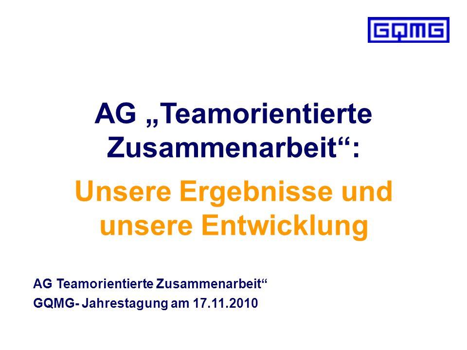 """AG """"Teamorientierte Zusammenarbeit :"""