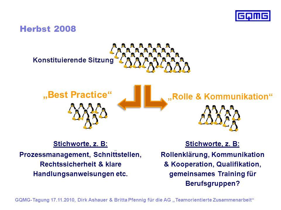 """Best Practice Herbst 2008 ""Rolle & Kommunikation"
