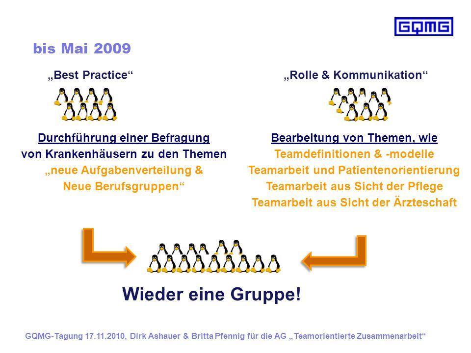 """Wieder eine Gruppe! bis Mai 2009 """"Best Practice"""