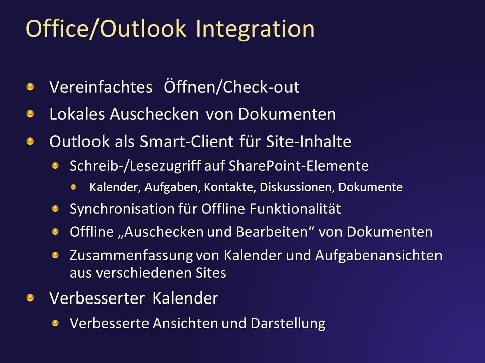 Office/Outlook Integration