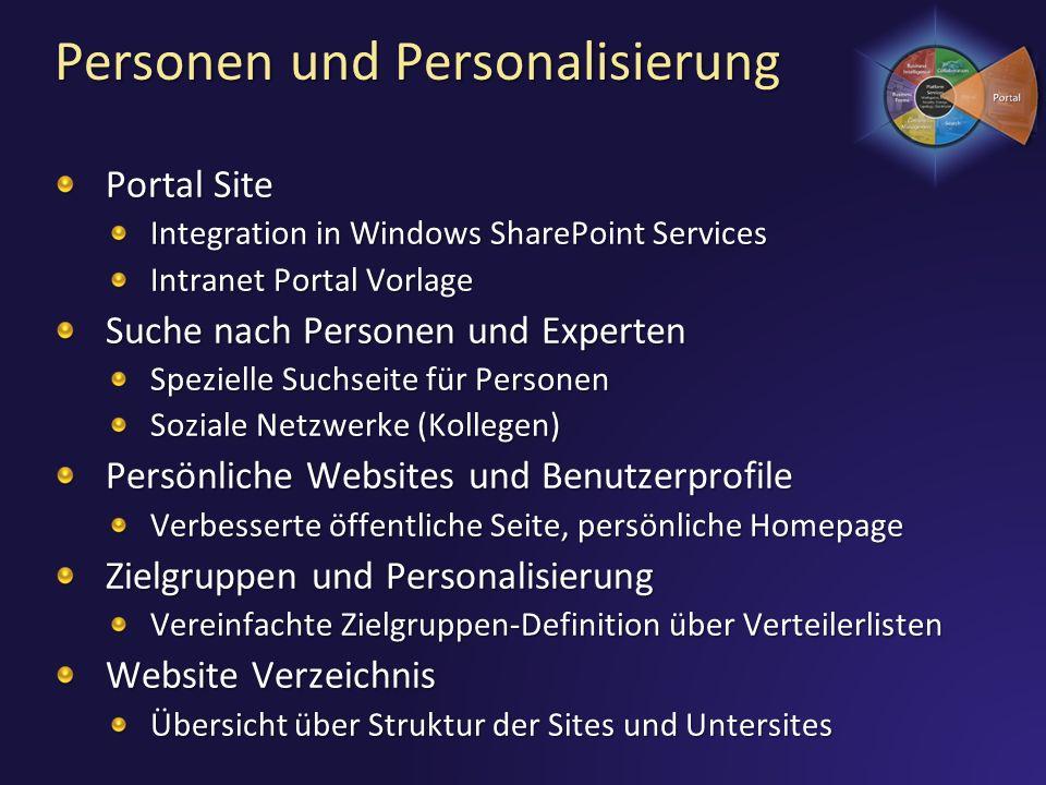 Personen und Personalisierung