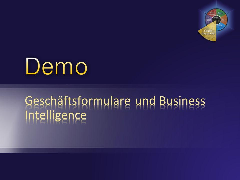 Geschäftsformulare und Business Intelligence