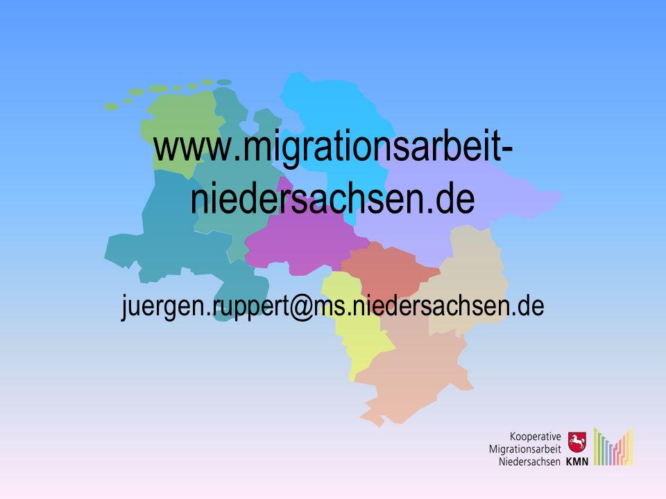 www.migrationsarbeit-niedersachsen.de juergen.ruppert@ms.niedersachsen.de
