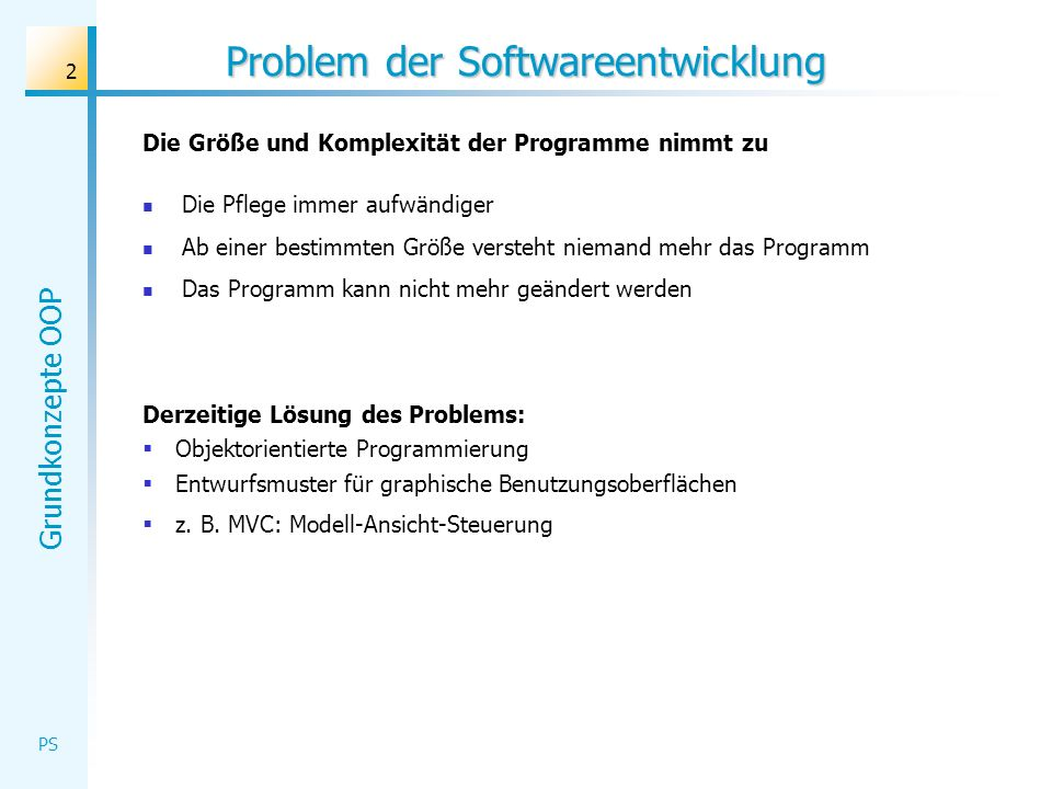 Problem der Softwareentwicklung