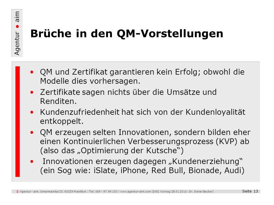 Brüche in den QM-Vorstellungen