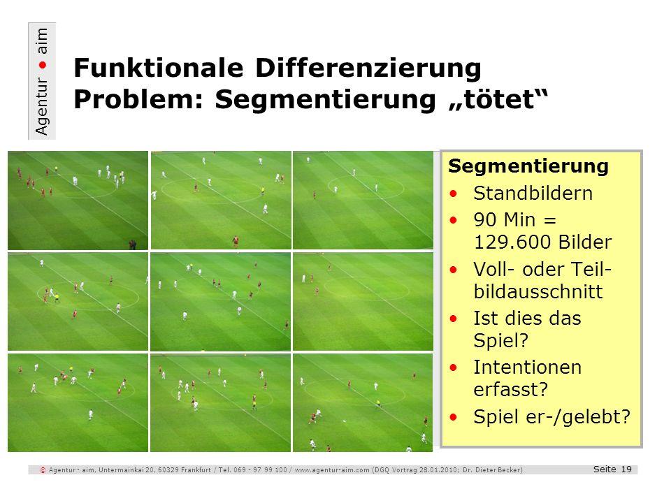 """Funktionale Differenzierung Problem: Segmentierung """"tötet"""