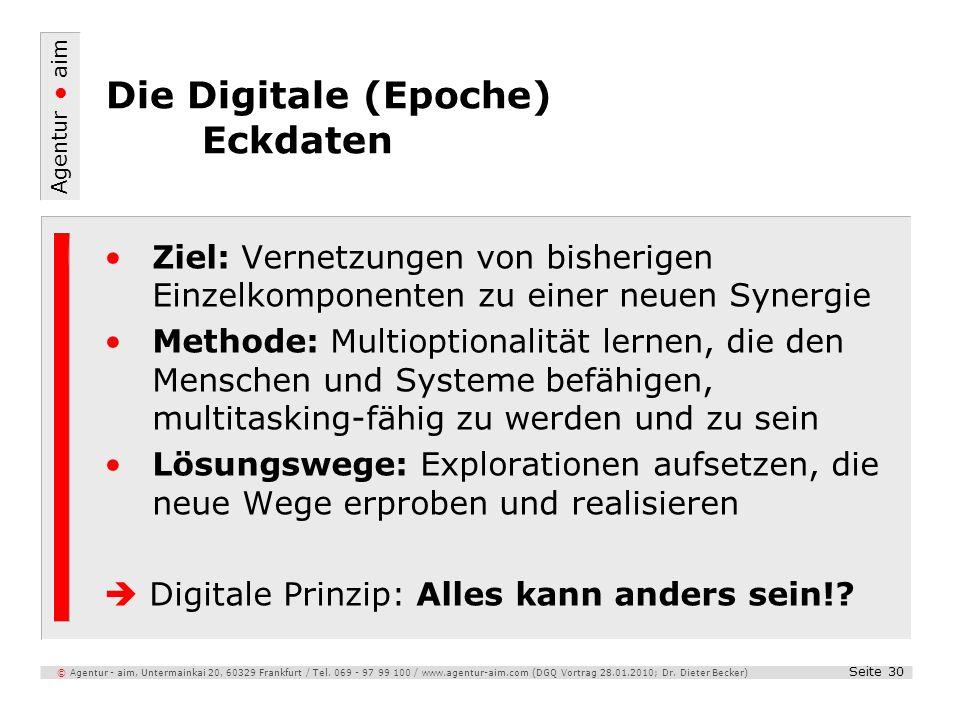 Die Digitale (Epoche) Eckdaten