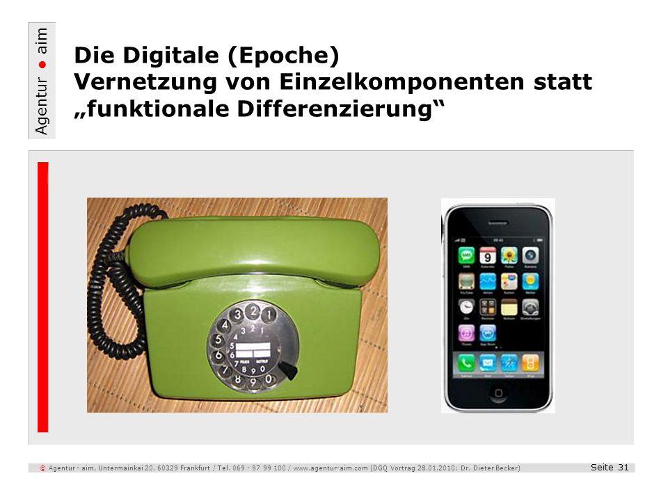 """Die Digitale (Epoche) Vernetzung von Einzelkomponenten statt """"funktionale Differenzierung"""