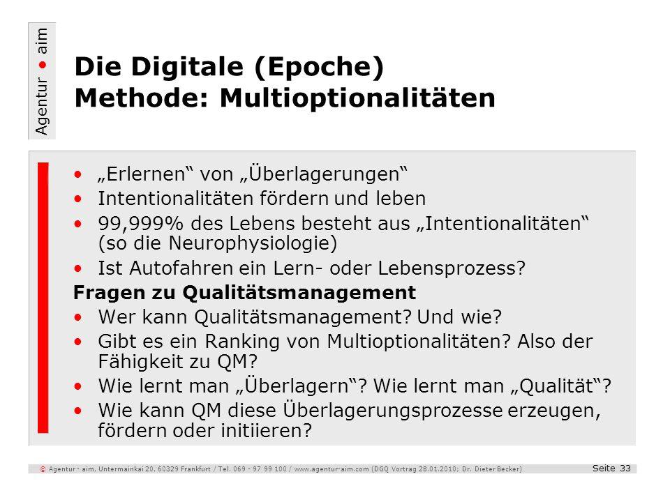 Die Digitale (Epoche) Methode: Multioptionalitäten