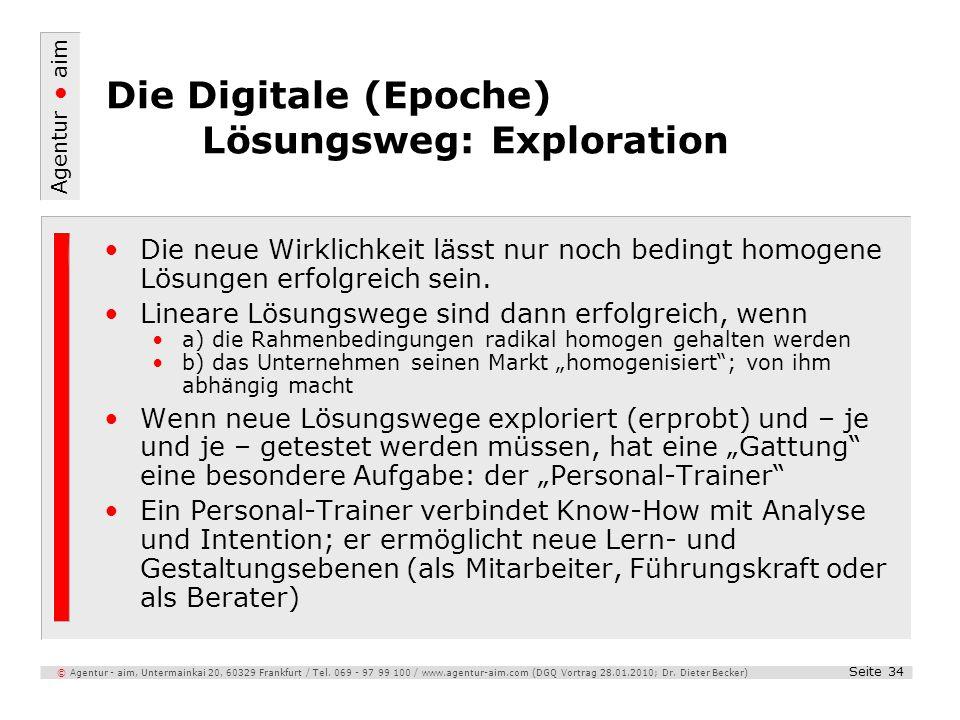 Die Digitale (Epoche) Lösungsweg: Exploration