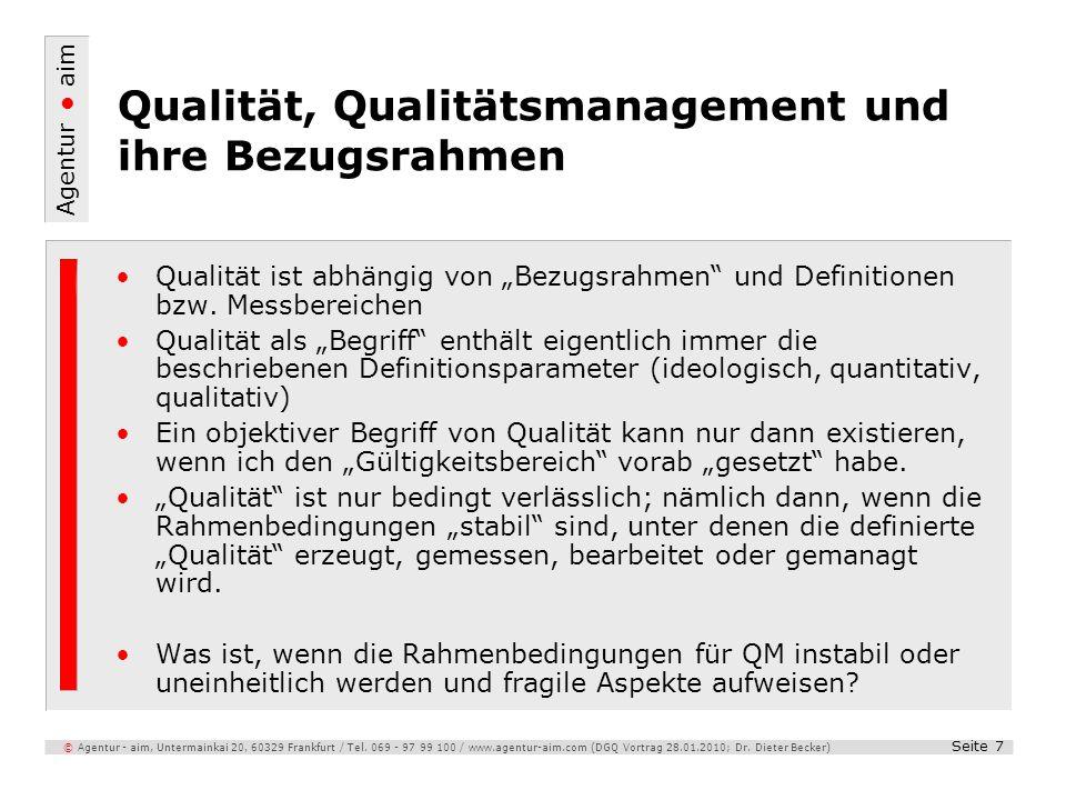 Qualität, Qualitätsmanagement und ihre Bezugsrahmen