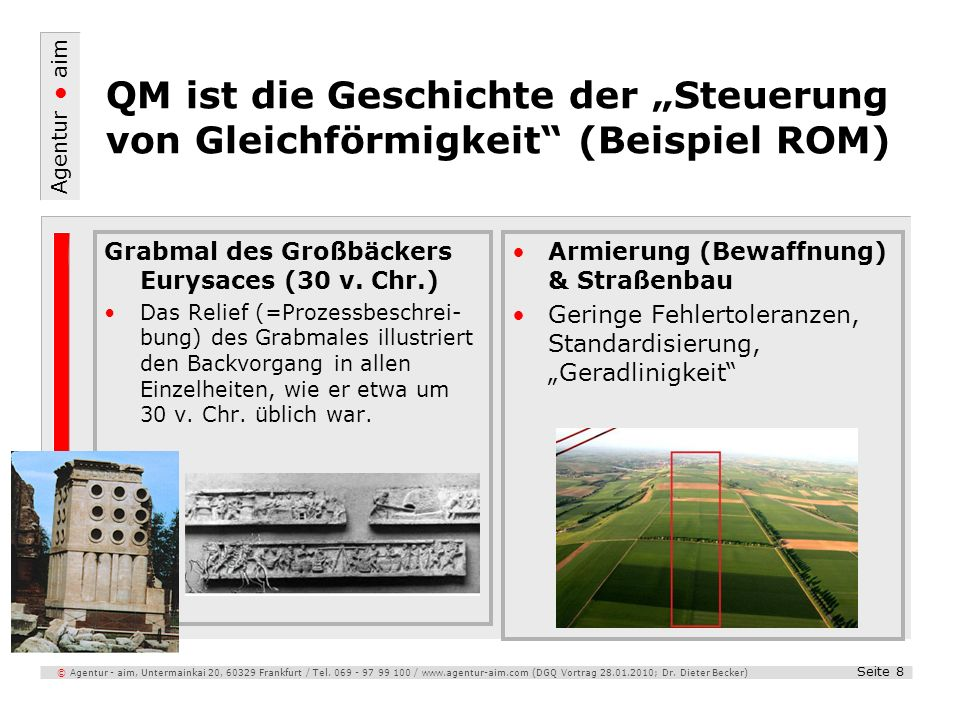 """QM ist die Geschichte der """"Steuerung von Gleichförmigkeit (Beispiel ROM)"""
