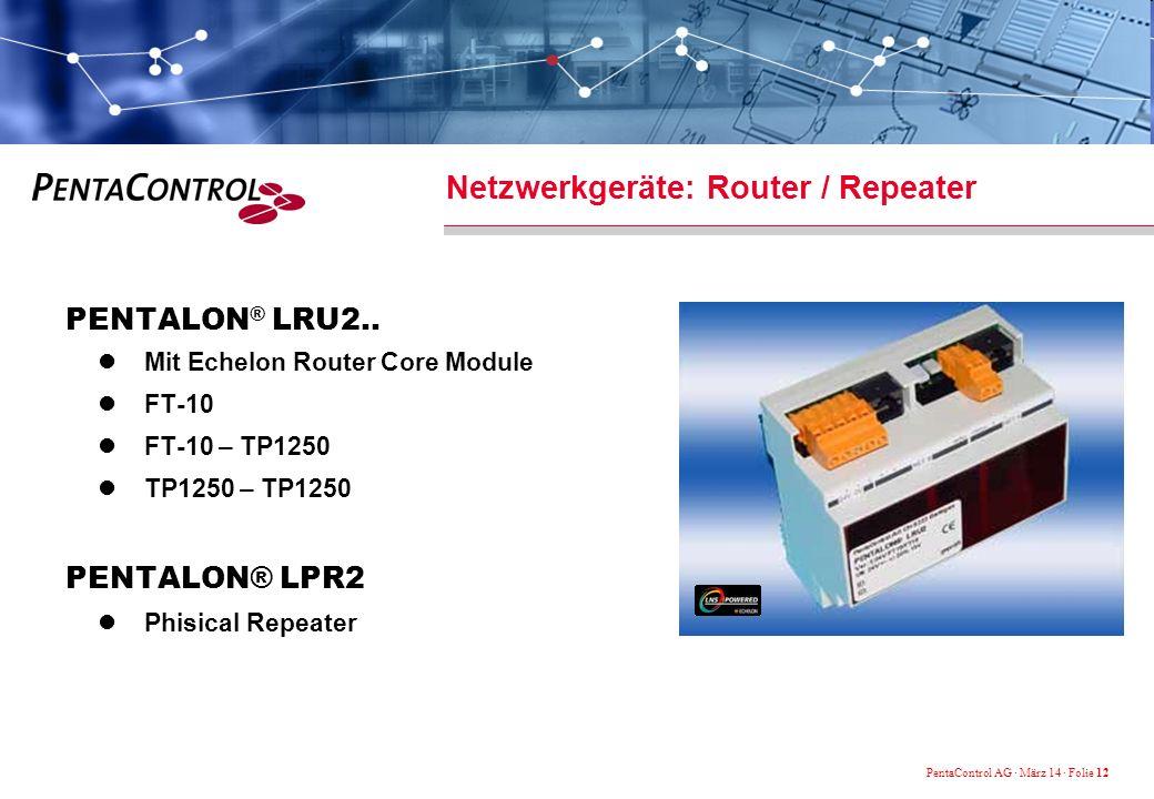 Netzwerkgeräte: Router / Repeater