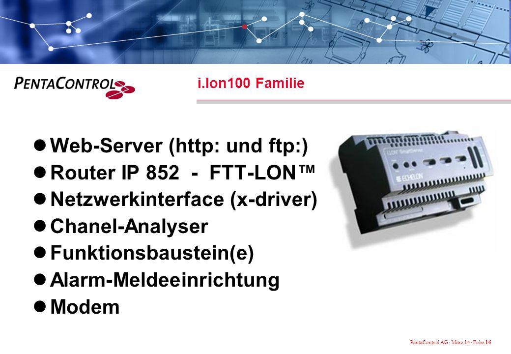 Web-Server (http: und ftp:) Router IP 852 - FTT-LON™