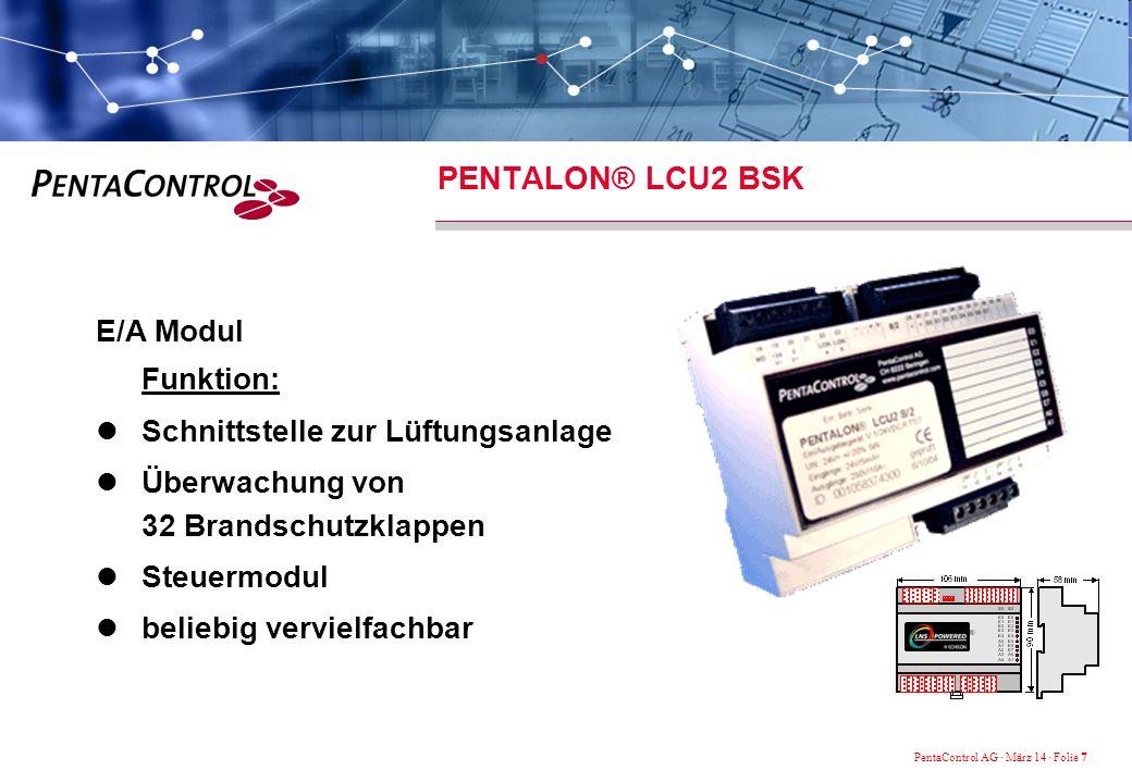 PENTALON® LCU2 BSK E/A Modul Funktion: