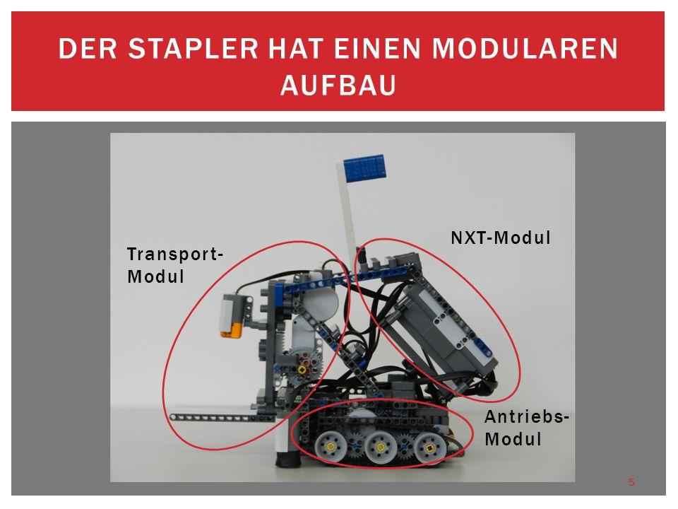 Der Stapler hat einen modularen Aufbau