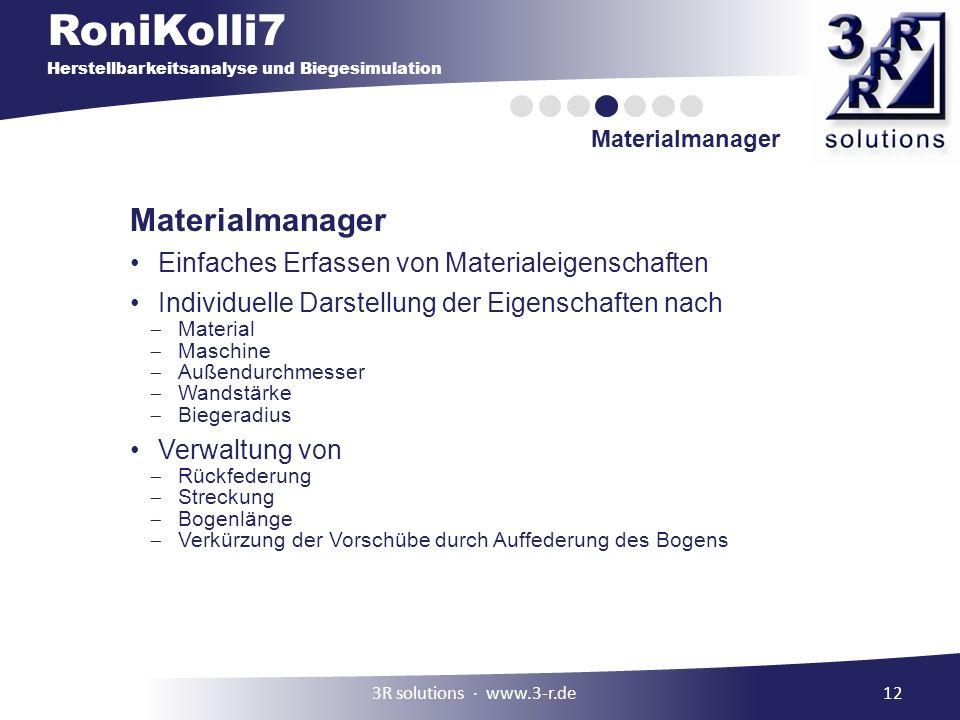 Materialmanager Einfaches Erfassen von Materialeigenschaften