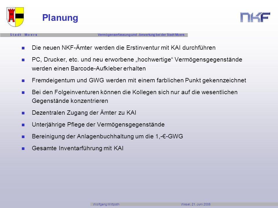 Planung Die neuen NKF-Ämter werden die Erstinventur mit KAI durchführen.
