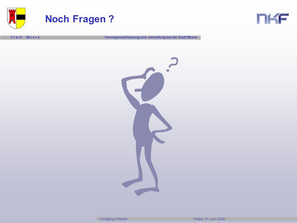 Noch Fragen Wolfgang Wittpoth Wesel, 21. Juni 2006